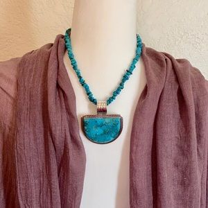 Jay King turquoise necklace & pendent